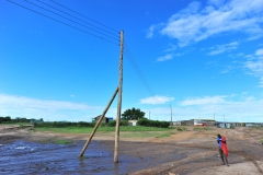 Complete power lines in Talek town. Through Talek Power, GIZ and other partners have constructed a solar power grid which will connect residents of Talek town in Narok to power for domestic and commercial use